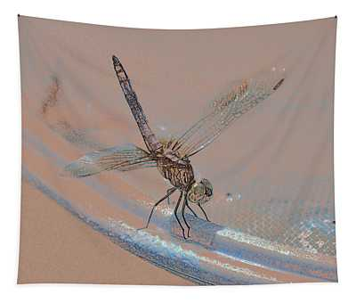 Riding The Rim Dragon Fly Art Tapestry