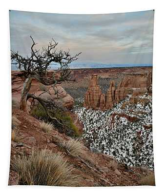 Rim Rock Drive View Of Colorado National Monument Tapestry