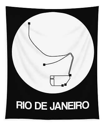 Rio De Janeiro White Subway Map Tapestry