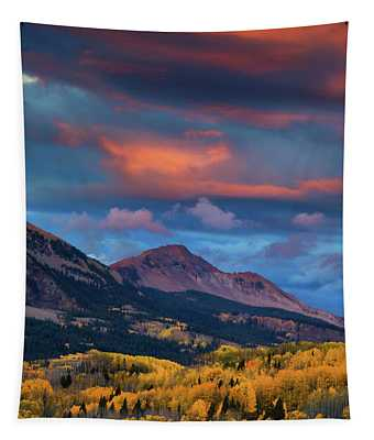 Rising Color  Tapestry