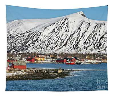 Risoyhamn Village, Norway Tapestry