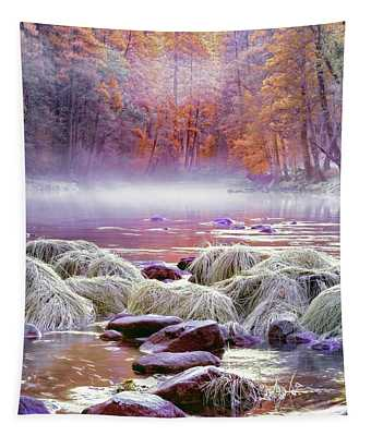 River In Yosemite Tapestry