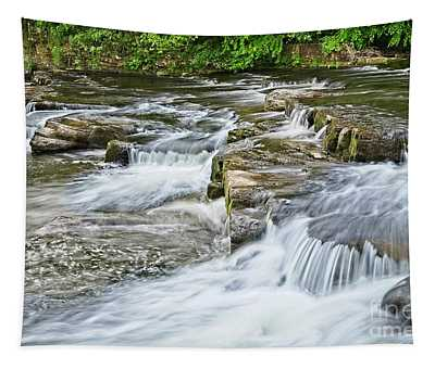 River Swale Waterfalls At Richmond, Yorkshire Tapestry