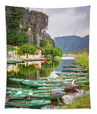 River View Tam Coc Vietnam Tapestry