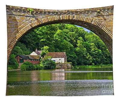 River Wear In Durham City Uk Tapestry