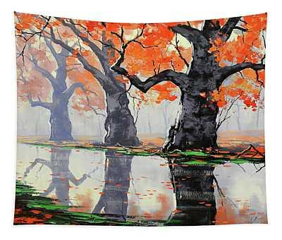 Riverside Trees Tapestry