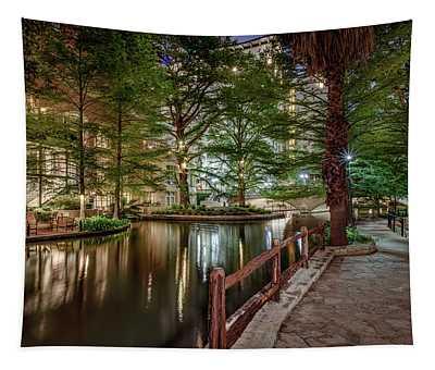 Riverwalk Early Morning I Tapestry
