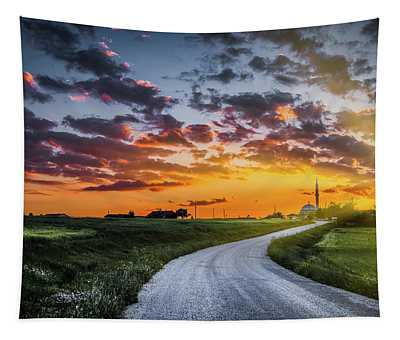 Road To Sunset Tapestry