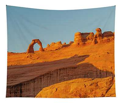 Rock Formation With Delicate Arch Tapestry