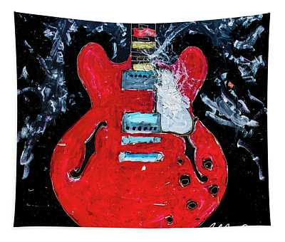 Rockabilly Red Tapestry