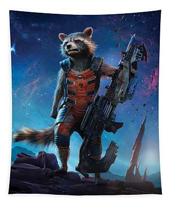 Rocket  Guardians Of The Galaxy 2 Tapestry