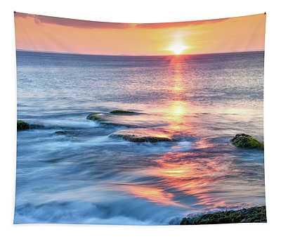Rockport Pastel Sunset Ma. Tapestry