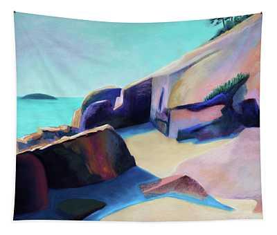 Rocks At Sand Beach, Acadia Tapestry