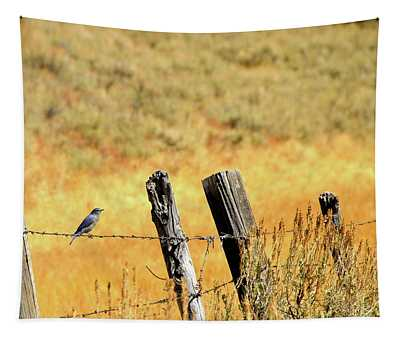 Rocky Mountain Blue Bird Tapestry