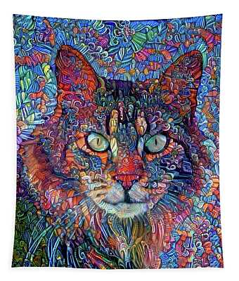 Rocky The Maine Coon Cat Tapestry