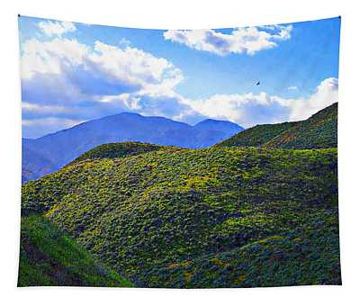 Rolling Hillside In California Tapestry