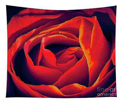 Rose Ablaze Tapestry