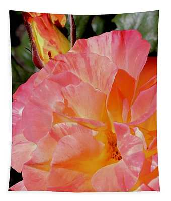 Rose And Bud Tapestry