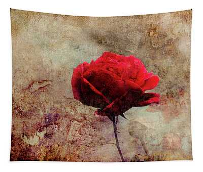 Rose By The Wall Tapestry