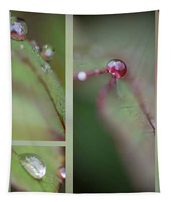 Dew On Rose Leaf Tapestry