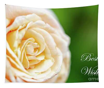 Rose Macro Best Wishes Tapestry