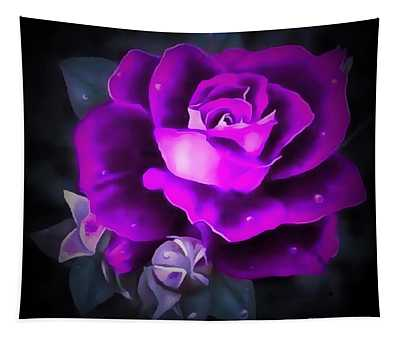 Rose Purple  Tapestry