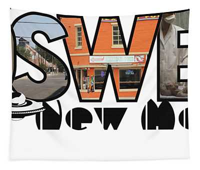 Roswell New Mexico Big Letter Travel Souvenir Tapestry
