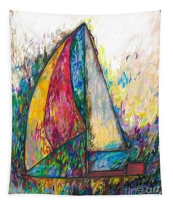 Rough Sailing Tapestry