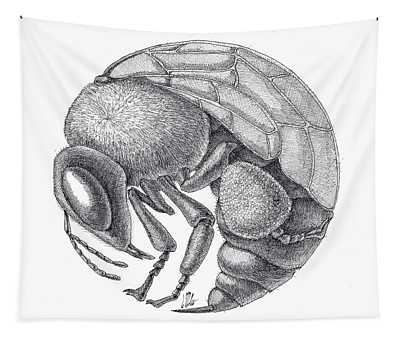 Rounded Bee Tapestry