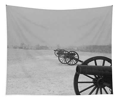 Row Of Cannon Tapestry