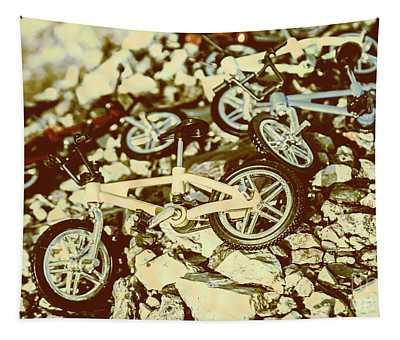 Rugged Biking Tapestry