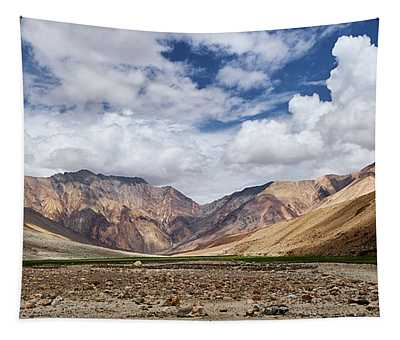 Tapestry featuring the photograph Rugged Himalayan Mountains by Whitney Goodey