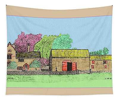 Rural Farmhouse Tapestry