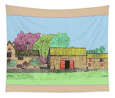 Rural Farmhouse Tapestry