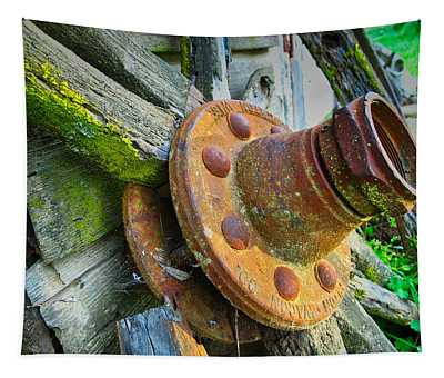 Rusted Hub Tapestry