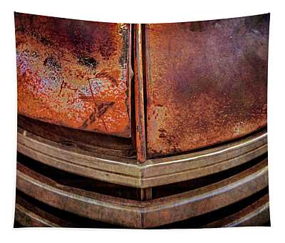 Rusty Old Dodge Truck Grill Tapestry