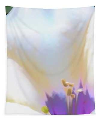 Tapestry featuring the photograph Sacred Datura Wild Radiance by Judy Kennedy