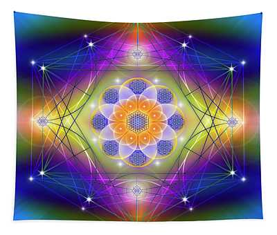 Sacred Geometry 756 Tapestry