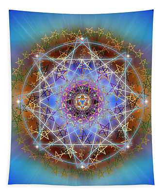 Sacred Geometry 758 Tapestry