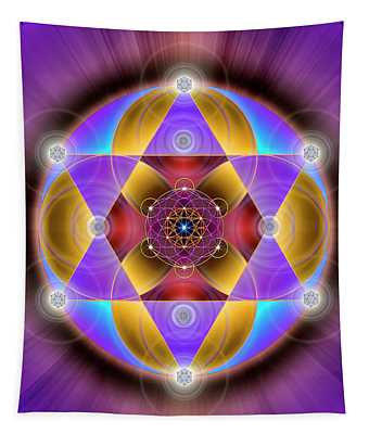 Sacred Geometry 761 Tapestry