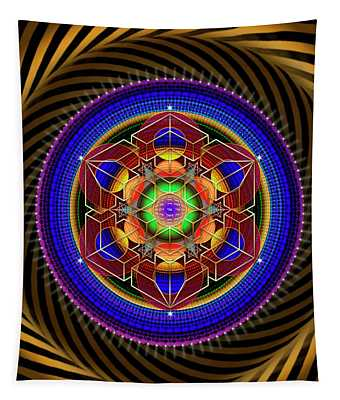 Sacred Geometry 763 Tapestry