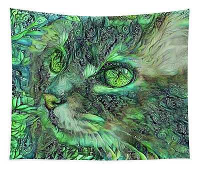 Sadie The Green Eyed Cat Tapestry