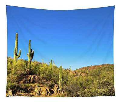 Saguaro Cactus Patch Tapestry