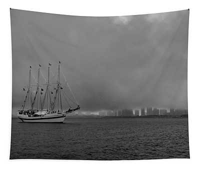 Sail In The Fog Tapestry