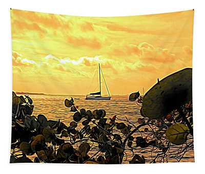 Sail The Manatee River Tapestry