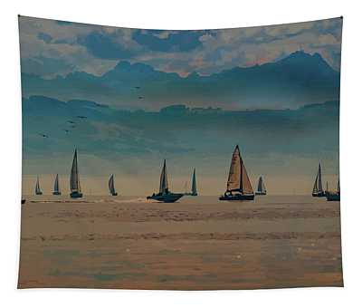 Sailing At Dusk Tapestry