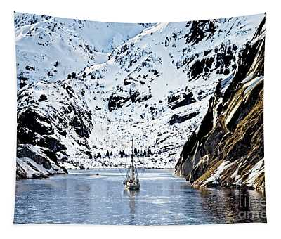 Sailing Into Trollfjord Norway Tapestry