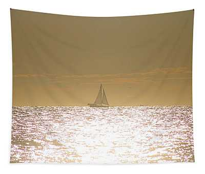 Sailing On Sunshine Tapestry