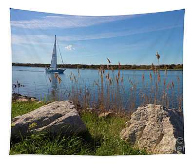 Sailing On The Cape Cod Canal Tapestry