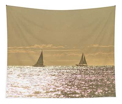 Sailing On The Horizon Tapestry